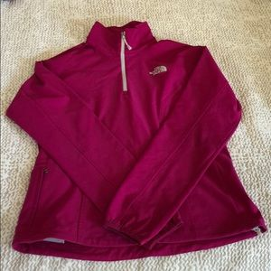 North Face Athletic Quarter-Zip Berry Shell